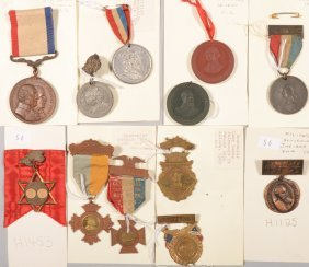 Lot Of (12) Various Souvenir Medals 1889 To 1910.