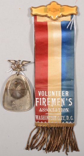 "Firemen's Reversible Dress Ribbon ""Volunteer Fireme"