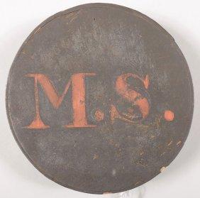 Massachusetts State Marked Wood Canteen, Cheese Box