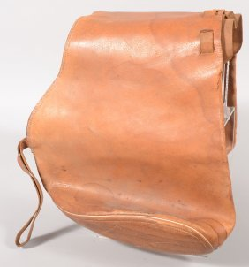 "Large Brown Leather Saddle Bag 16"" X 35"" With A La"