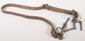 "Snaffle Bit On A Headstall Marked ""BEAL BROS. LTD/"