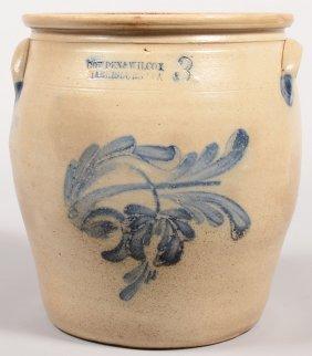 Cowden & Wilcox, Harrisburg, PA 3 Gallon Stoneware