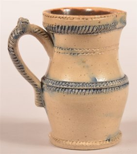 American 19th Century Stoneware Small Pitcher.