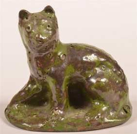 Stahl Redware Figure Of A Seated Cat.