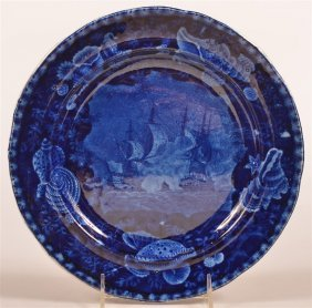 Historical Staffordshire Blue Transfer Plate.