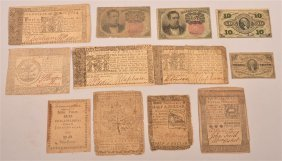 Lot Of Pa And Md Continental Currency - 1770's.