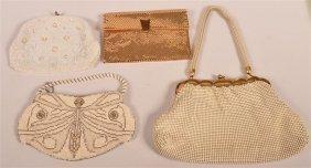 Four Ladies Mesh And Beaded Handbags.