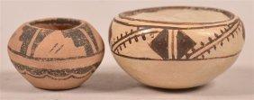 Two Vintage Pueblo Indian Miniature Bowls.