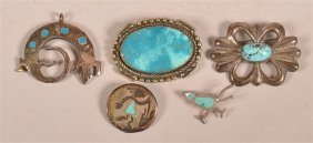 Southwest Indian Turquoise Brooches/pins.