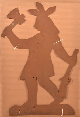 Tin Indian Silhouette Weathervane Pattern.