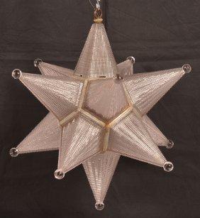 Vintage Moravian Star Hanging Light.