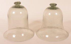 2 Blown Smokey Bubble Glass Smoke Bells.