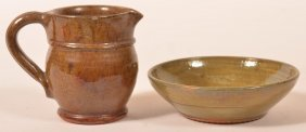 Two Pieces Of Stahl Glazed Redware.