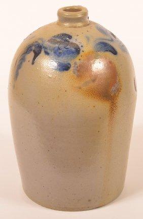 John Bell 2 Gal. Stoneware Jug With Cobalt Blue.