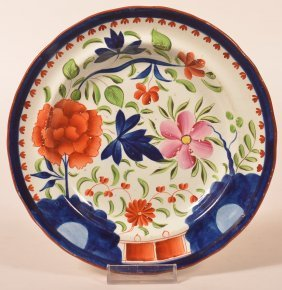 Gaudy Dutch Double Rose Pattern. China Plate.
