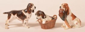 3 Royal Doulton Cocker Spaniel Figurines.