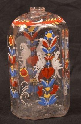 Stiegel Blown Colorless Glass Cologne Bottle.