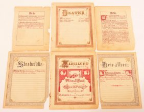 Family Registers From Old Bibles.
