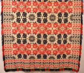E. Kerger 1840 Pennsylvania Coverlet.