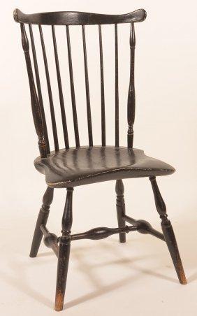 Southeastern Pa Windsor Fan-back Side Chair.
