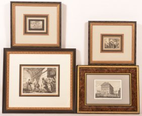 Four Various 18th And 19th Century Etchings.