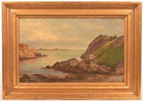 J.b. Sword Oil On Canvas Seascape Painting.