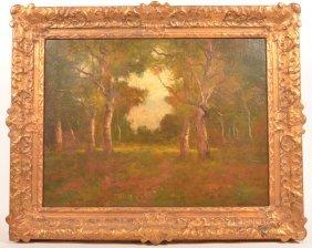 Max Weyl 1894 Autumn Woodland Painting.