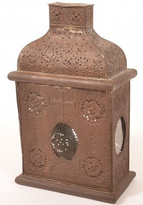18th/19th Century Tin Church Candle Lantern.