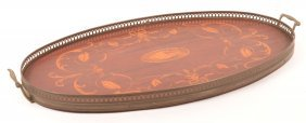 Federal Style Inlaid Mahogany Serving Tray.