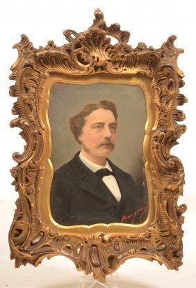 19th Cent. Miniature Portrait Of A Gentleman.