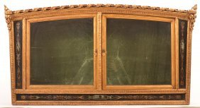 French 18th Century Gilt Curio Wall Cabinet.