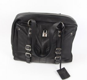 Yves St Laurent Black Leather Day Purse