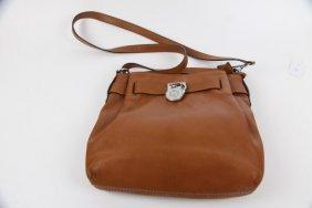 Michael Kors Tan Brown Leather Bag