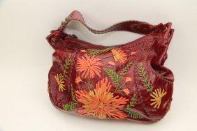 Isabella Fiore Red Italian Leather Handbag