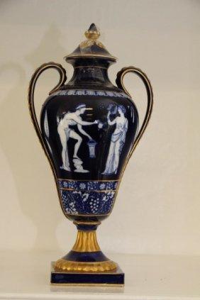 Burslem Doulton Estruscan Style Covered Urn