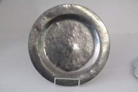 Early English 18th C. Pewter Bowl/plate