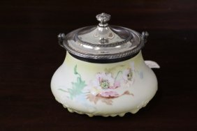 Pairpoint Victorian Floral Decorated Container