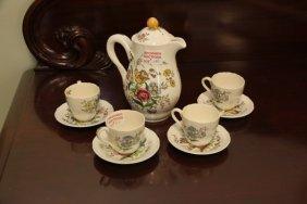 """Copeland Spode Partial Coffee Set - """"gainsborough"""""""
