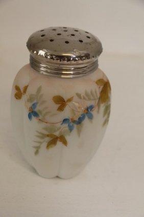 Victorian Satin Glass Muffineer
