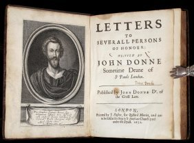 John Donne's Letters First Edition 1651