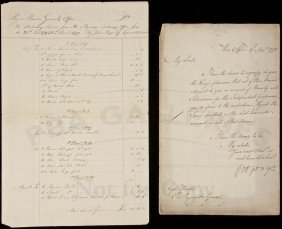 Rare Document Signed By George Yonge