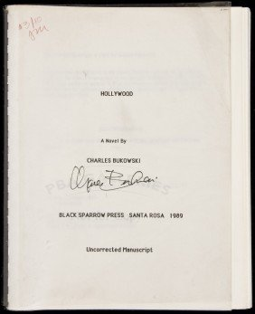 Bukowski Hollywood - Uncorrected Proof