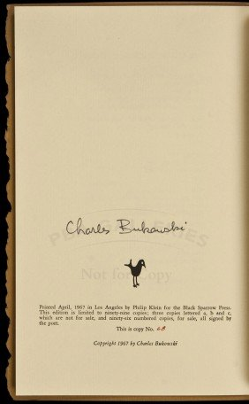 2 Poems By Bukowski 1 Of 99 Signed