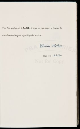 William Faulkner A Fable Signed Limited Edition