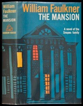 William Faulkner The Mansion 1st Edition