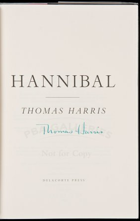 Thomas Harris Hannibal Signed 1st Edition