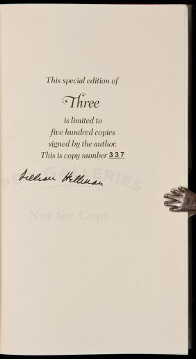 Lillian Hellman Three Signed Limited Edition