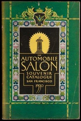 Automobile Salon In SF 1930 Souvenir Catalogue