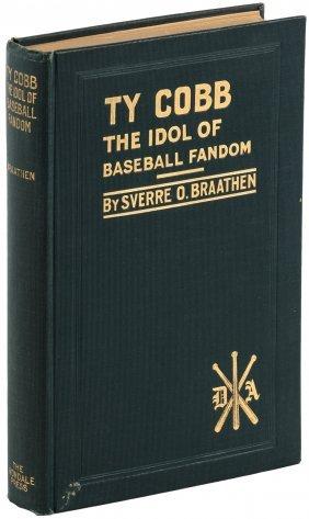 Ty Cobb 1928 Book, Inscribed By Author Sverre Braathen