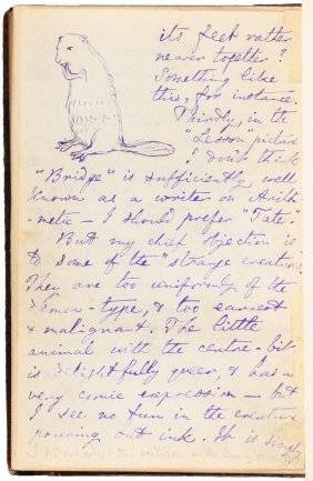 With Letter And Drawing By Lewis Carroll